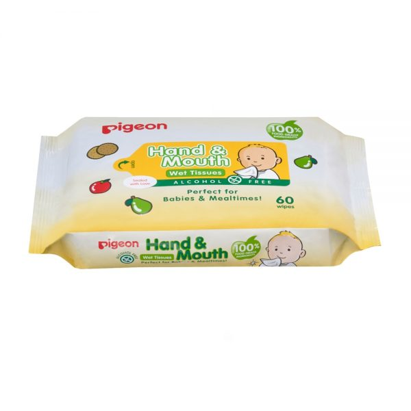 Pigeon Hand & Mouth Wet Wipes 2x60pcs (Twin Pack)