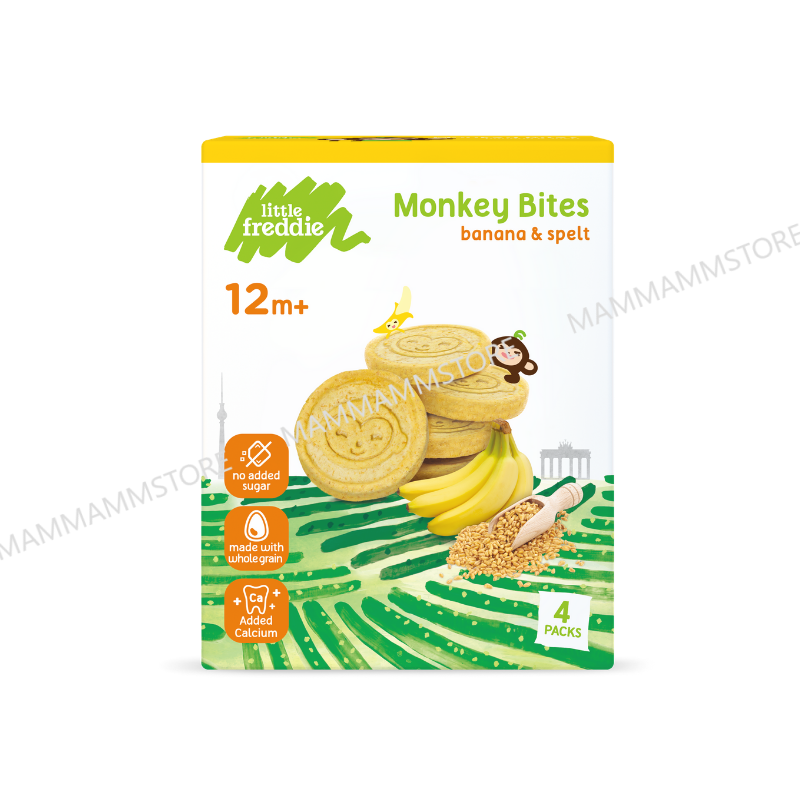 Little Freddie Monkey Bites Biscuits (4x20g) For 12 Months And Above