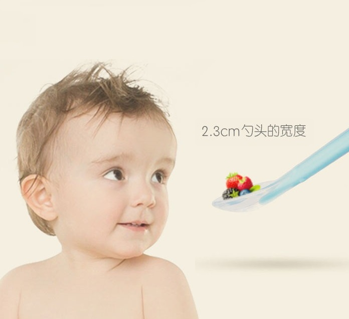 Mam Mamm Store Silicone Weaning Spoon - Blue For 6 Months And Above