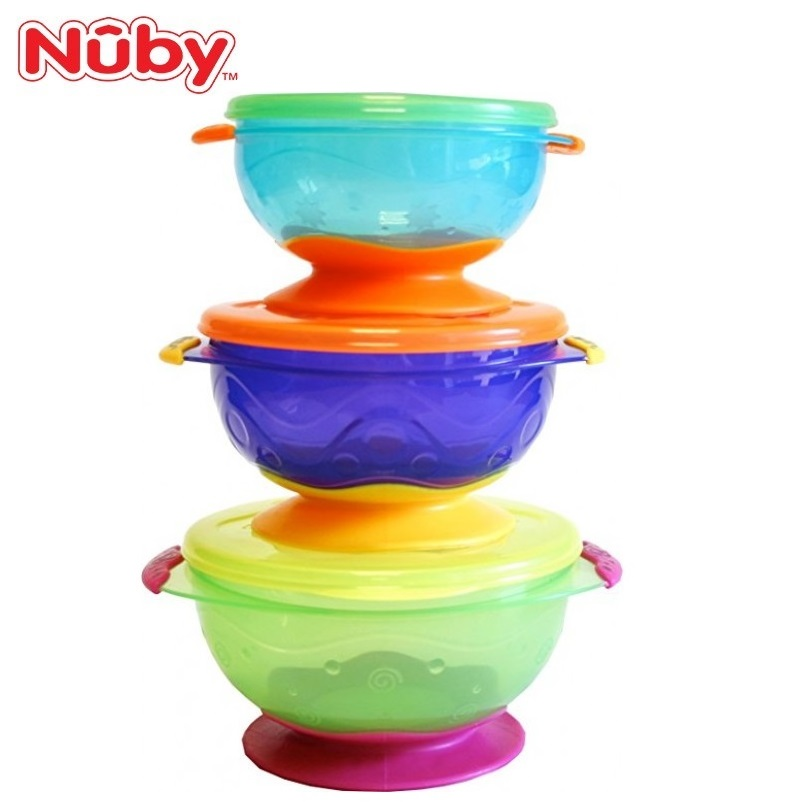 Nuby Stackable Suction Bowl (3pcs) For 6 Months And Above NB5368