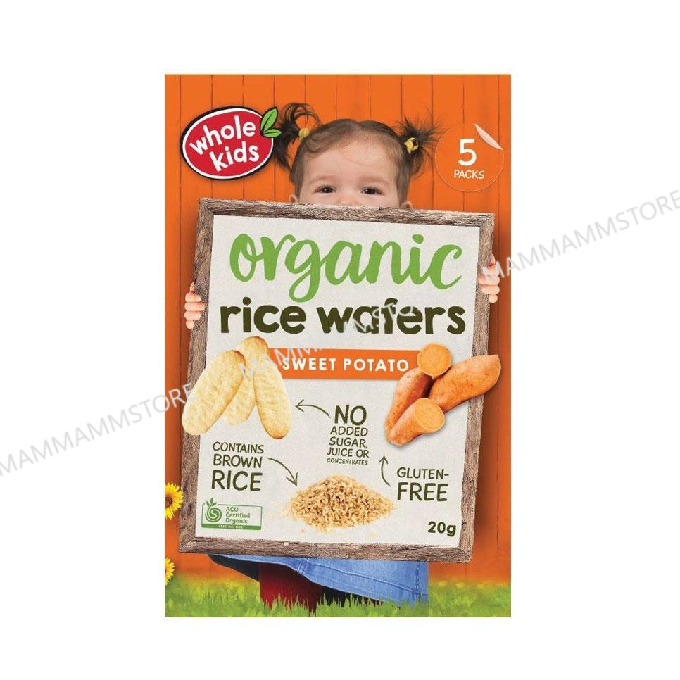Whole Kids Organic Teething Wafers 20g For 8 Months And Above