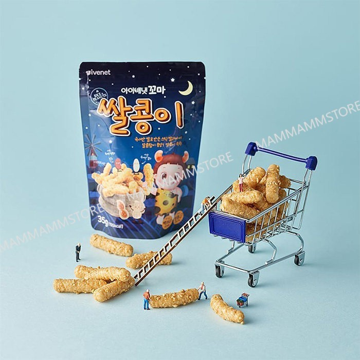 Ivenet Rice & Peanut Snacks 35g For 2 Years Old And Above