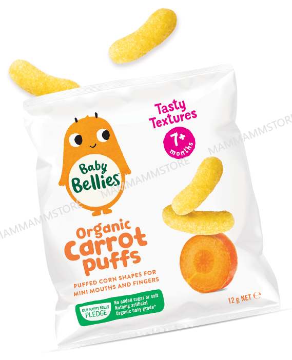 Little Bellies Baby Puffs Yummy Organic Puffed Finger Food (12G) for 7 months+